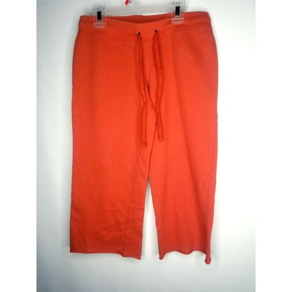 No boundaries NOBO Orange Cropped Pants Capris Swe